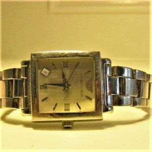 Armani Square Face Watch - Stainless Steel